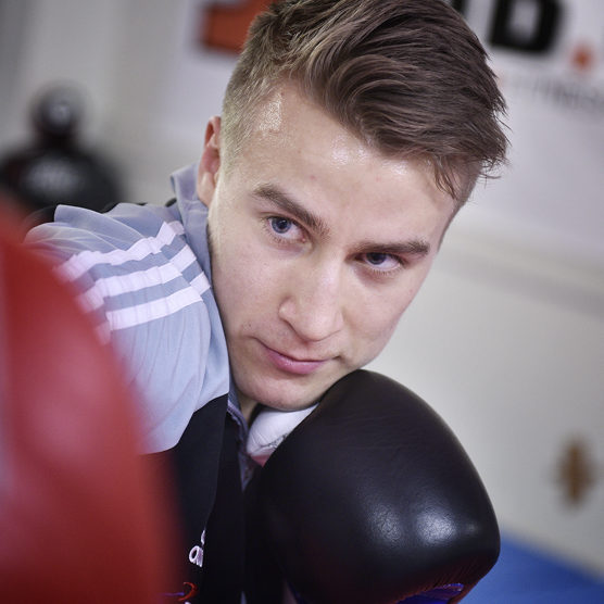 Emil the rabbit alm from gaming to boxing. Amateur Boxer
